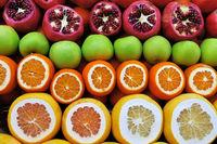 Set of fruits on the market
