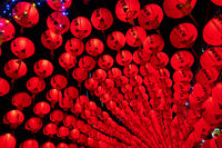 red lanterns in the night
