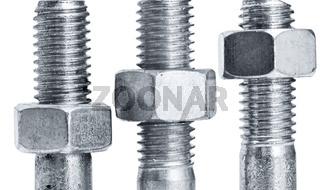nuts on  screws