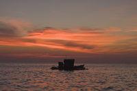 Sonnenuntergang am Meer, von Phu Quoc, Vietnam, Südostasien