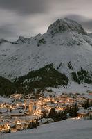 Nachtaufnahme von Lech am Arlberg