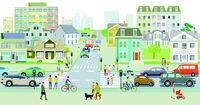 Stadtleben und Verkehr.eps