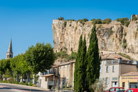 MORNAS, FRANCE - JULY 19, 2020: The Fortress of Mornas, France on a beautiful summer day