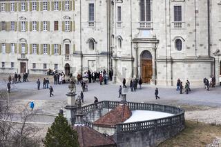Eingangsbereich, Kloster, Einsiedeln, Schweiz