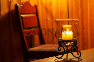 Candle in interior