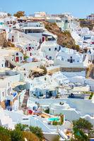 Houses in Oia town in Santorini