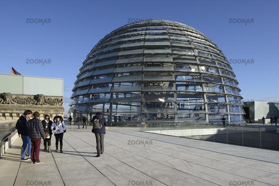 Reichstagskuppel und Dachterasse, Reichstag Berlin, Architekt Si