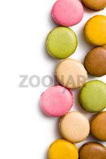 various types of macaroons