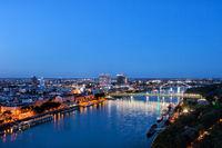 Bratislava City Blue Hour River View