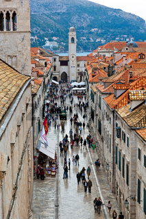 Kroatien, Dubrovnik, Hauptstrasse Stradun
