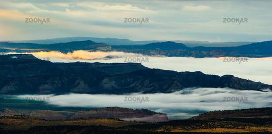 Morgen Wolken Tal Sonnenaufgang Canyon