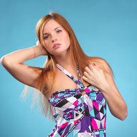 Fashion woman in elegant dress