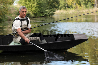 Man out fishing