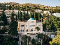 Dubrovnik, Croatia - 27 june 2019: Aerial view of the territory of Grand Villa Argentina and Villa Sheherezade. The best hotels in Dubrovnik.