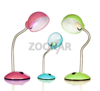 Table lamps, isolated