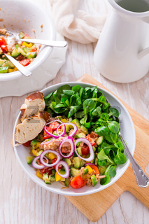 Tuna salad with cucumber