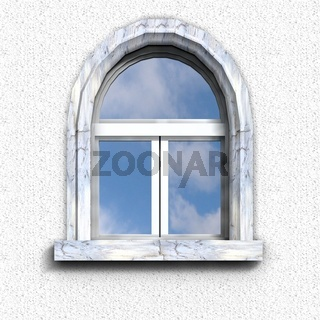 Fenster mit Blaustein
