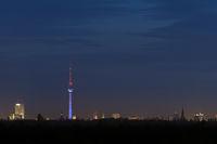 Skyline von Berlin am Abend