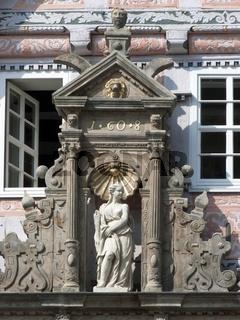 Detail am Dempterhaus in Hameln