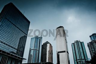 modern urban city buildings