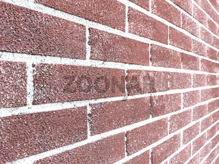 Red brick wall ending in infinity