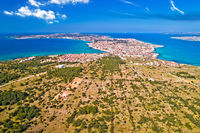 Island of Vir archipelago aerial panoramic view