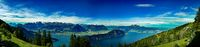 Panorama from Rigi with view of swiss alps. Holiday destination!