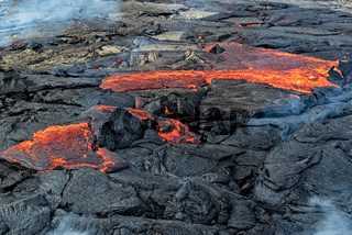 Magma in Fagradalsfjall volcanic eruption, Iceland