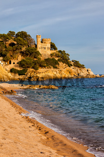 Beach in Lloret de Mar on Costa Brava in Spain