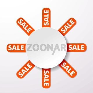 Sale Big Round Info Label