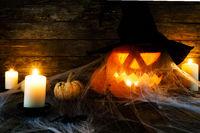 Halloween decorations concept