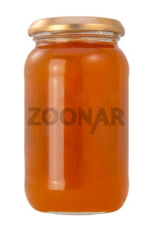 Isolated Jar Of Apricot Jam