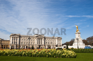 Buckingham Palace and the Victoria Memorial