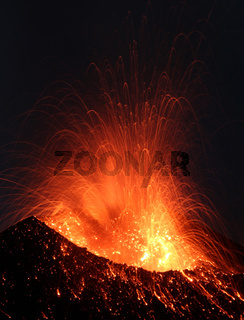 Eruption Vulkanausbruch