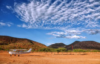 Flugfeld nahe der Stadt Epupa im Norden von Namibia | Airfield near Epupa in the north of Namibia