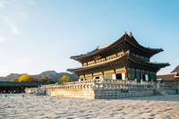 Gyeongbokgung Palace at autumn in Seoul, Korea