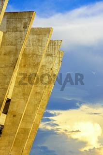 Detail of Mineirao Stadium during sunset