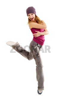 the dancer on a white background
