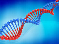 DNA code abstract background