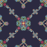 Rosemaling vector pattern 53