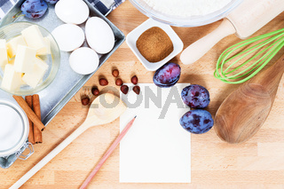ein rezept für pflaumenkuchen