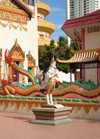 statues outside temple
