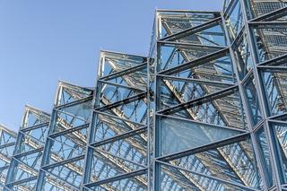 Umweltbundesamt Dessau Eingangsbereich mit Glasfassade