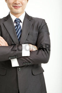 smiling business man with suit