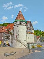 Bürgerturm Albstadt-Ebingen, Zollernalbkreis, Baden-Württemberg