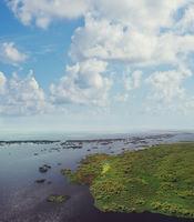 Aerial View Of Okeechobee Lake In Florida.