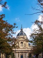Blick auf die Sorbonne Universität in Paris, Frankreich