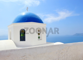 Greek orthodox church in Santorini island, Greece