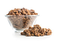 Breakfast cereal. Morning chocolate granola.