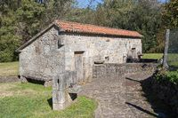 Typical Old traditional watermill of Galicia, Spain